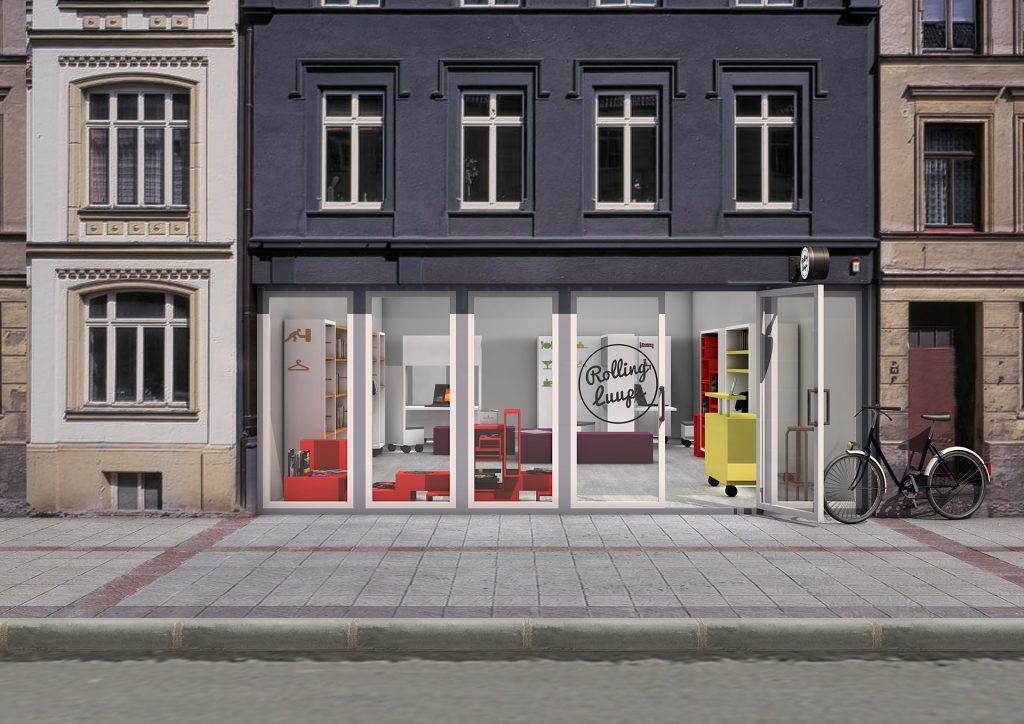 Hausfassade Shop Raumkonzept Rolling Luups Dortmund