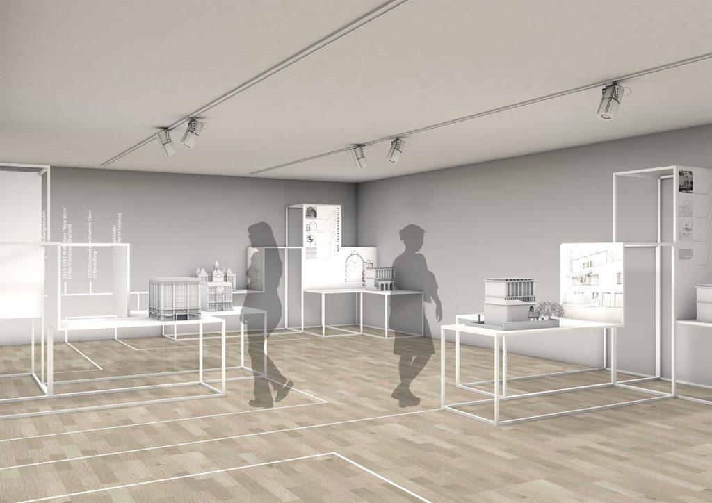 Raumentwurf Ausstellung Düsseldorf Peter Behrens 3
